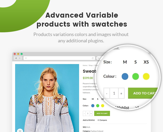 WoodMart  - swatches - WoodMart – Responsive WooCommerce WordPress Theme